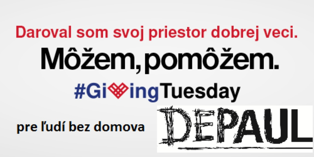 Môžeš, pomôž. Giving Tuesday